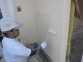 宗像市 外壁塗装作業3