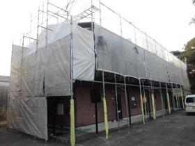 飯塚市 外壁塗装作業1