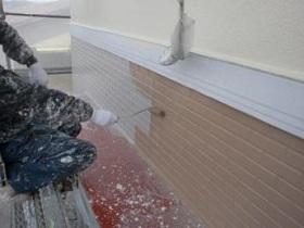 直方市 外壁塗装作業3
