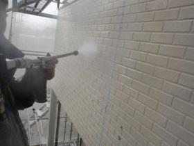 直方市 外壁塗装作業1