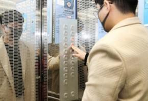 抗菌フィルム エレベーター(福岡)